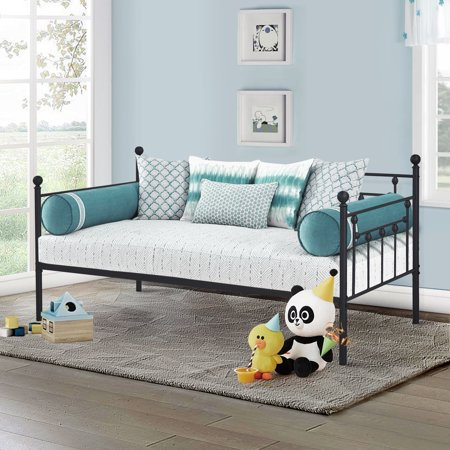 Incredible Daybed With Trundle Metal For Kids Room Guest Sleepover Sofa Bed Twin Size Roll Out With 4 Locking Casters Download Free Architecture Designs Scobabritishbridgeorg