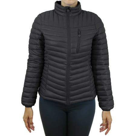 Women's Lightweight Puffer Bubble Jacket - Modern Fit Design