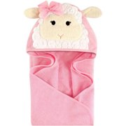 Hudson Baby Woven Terry Animal Hooded Towel, Little Lamb