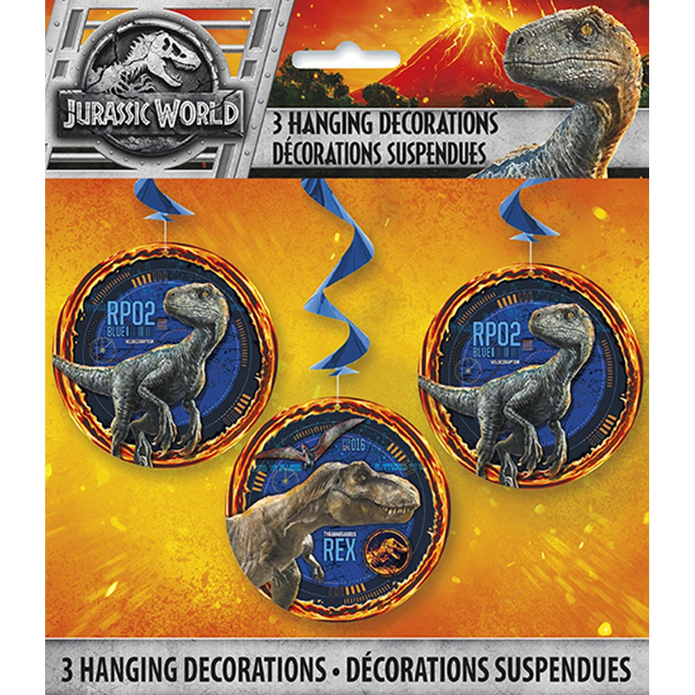 Jurassic World 2 Hanging Swirls (3 Count)