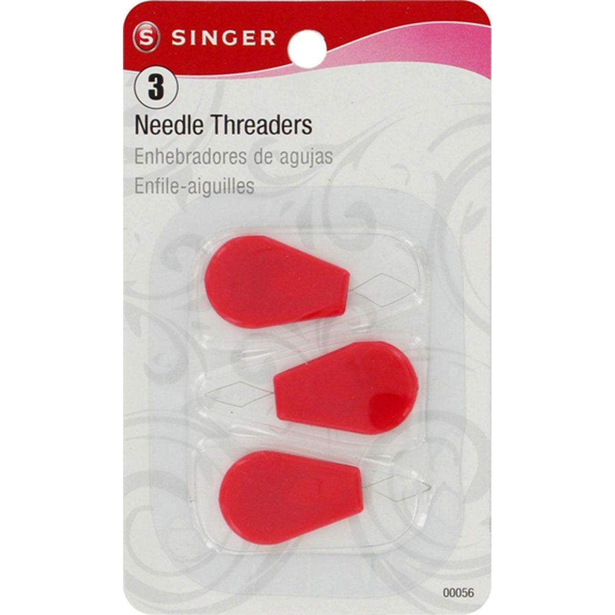 Singer Plastic Needle Threaders-3/Pkg