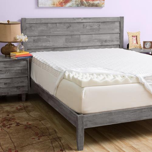Grande Hotel Collection Big Comfort 4-inch Memory Foam Mattress Topper with Cover Queen