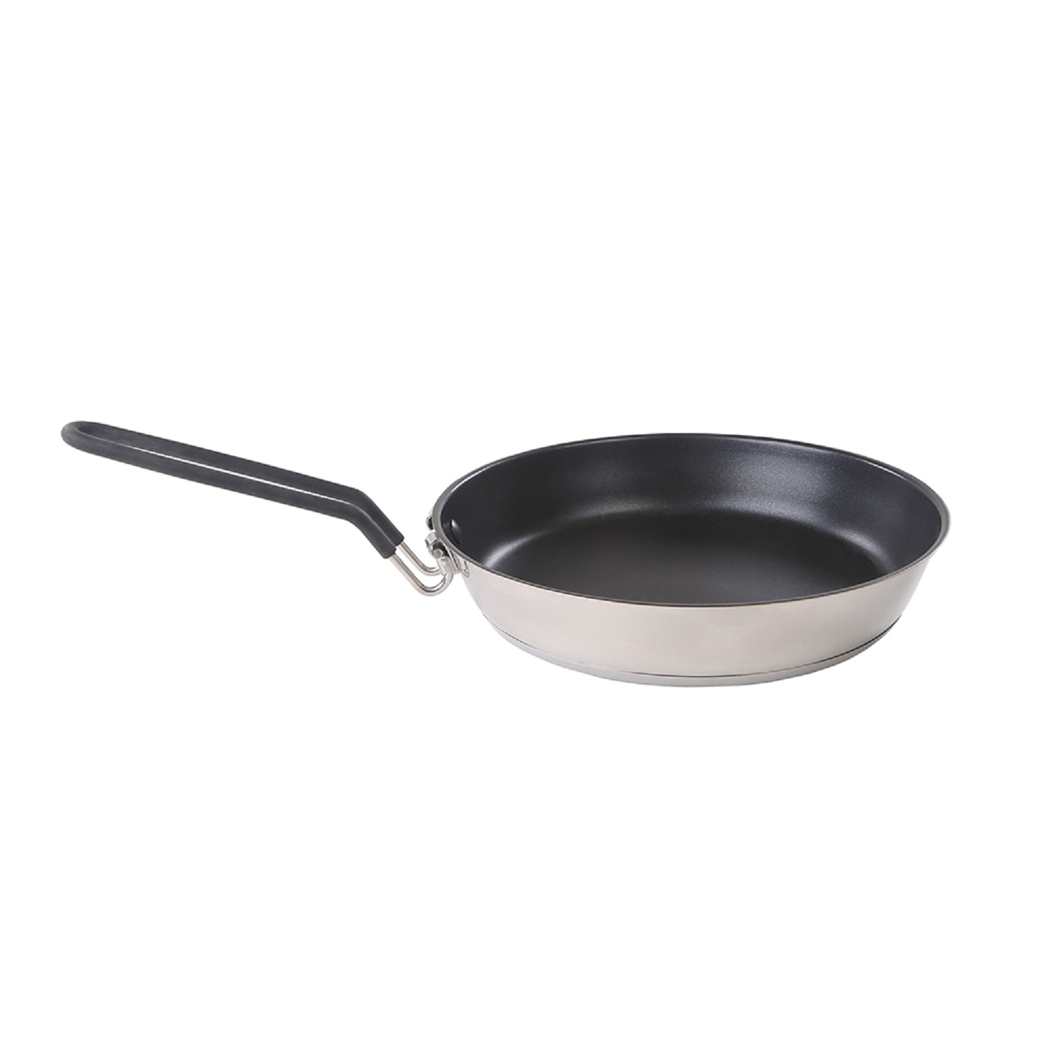 """Stansport Stainless Non-Stick Coated Fry Pan with Folding Handle-10"""" by Stansport"""