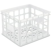 Sterilite Storage Crate- White, Case of 6