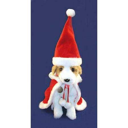 2-Piece Christmas Santa Claus Suit For Pet Dog Or Cat Size Medium #EX11439 (Full Body Cat Suit)