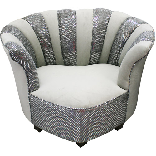 Newco International Sweetheart Tween Velvet Chair