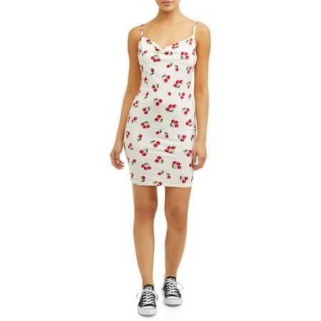 Cherry Red Dress - Juniors' Cherry Print Mini Dress
