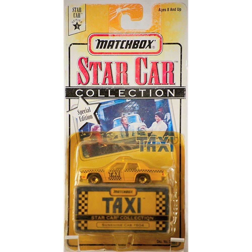 1997 Matchbox Star Car Collection TAXI #804 Sunshine Cab by