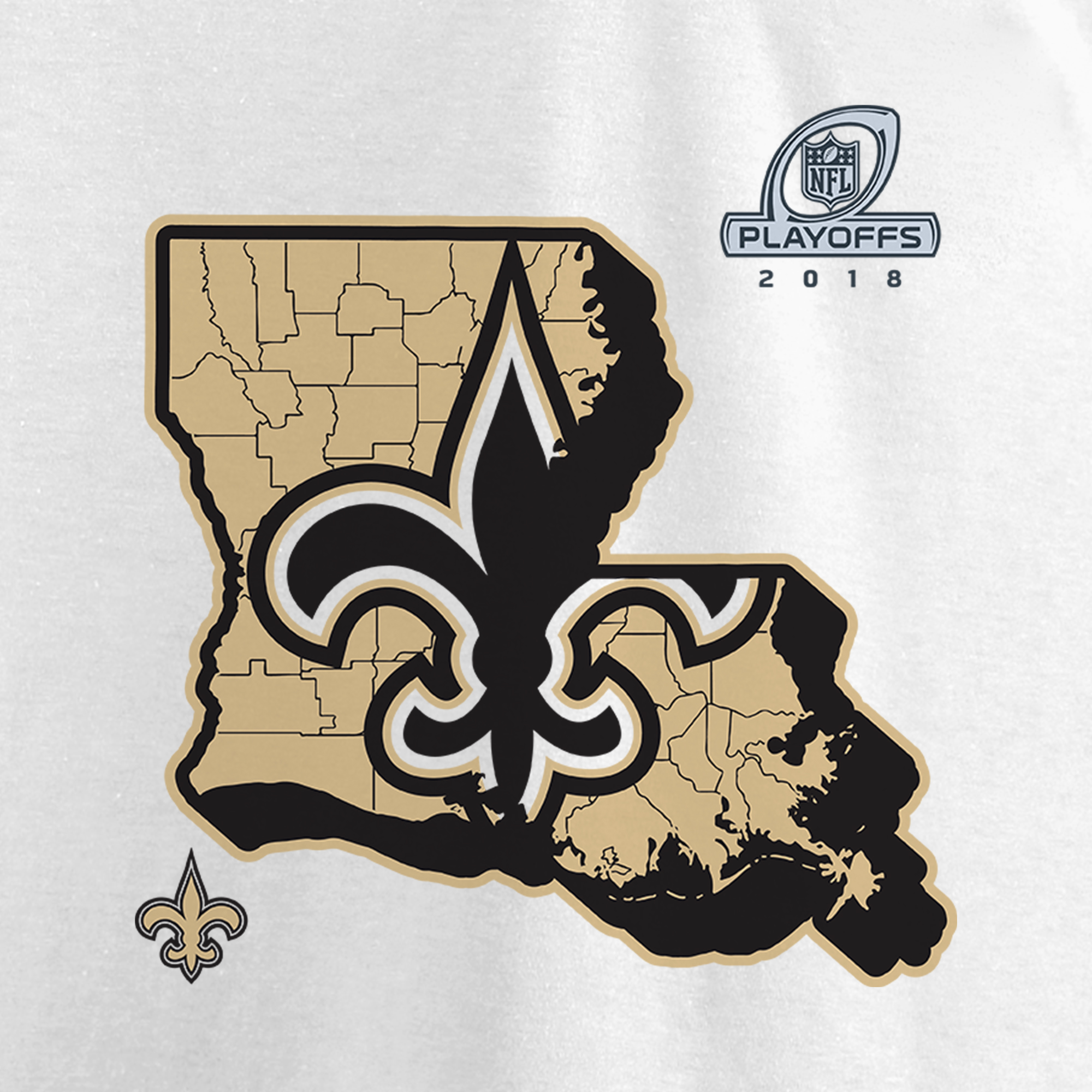 New Orleans Saints NFL Pro Line by Fanatics Branded Women s 2018 NFL  Playoffs Bound State V-Neck T-Shirt - White - Walmart.com a40d64734