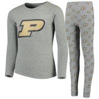 Purdue Boilermakers Youth Long Sleeve T-Shirt & Pant Sleep Set - Heathered Gray