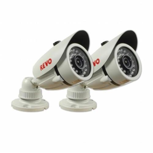 Revo America RCBS30-4BNDL2N 1200 TVL Indoor/Outdoor Bullet Surveillance Camera With 100 ft.  Night Vision & BNC