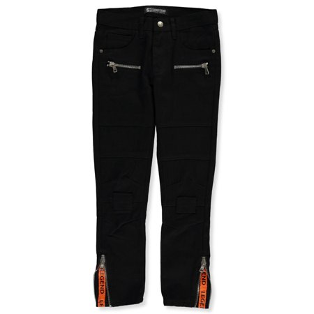 Sacred Crown Boys' Zipped & Taped Slim Jeans (Nudie Jeans Tape Ted 16 Dips Dry)