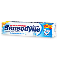Sensodyne Maximum Strength Anticavity Toothpaste, For Sensitive Teeth, Cool Gel - 4 Oz, 2 Pack