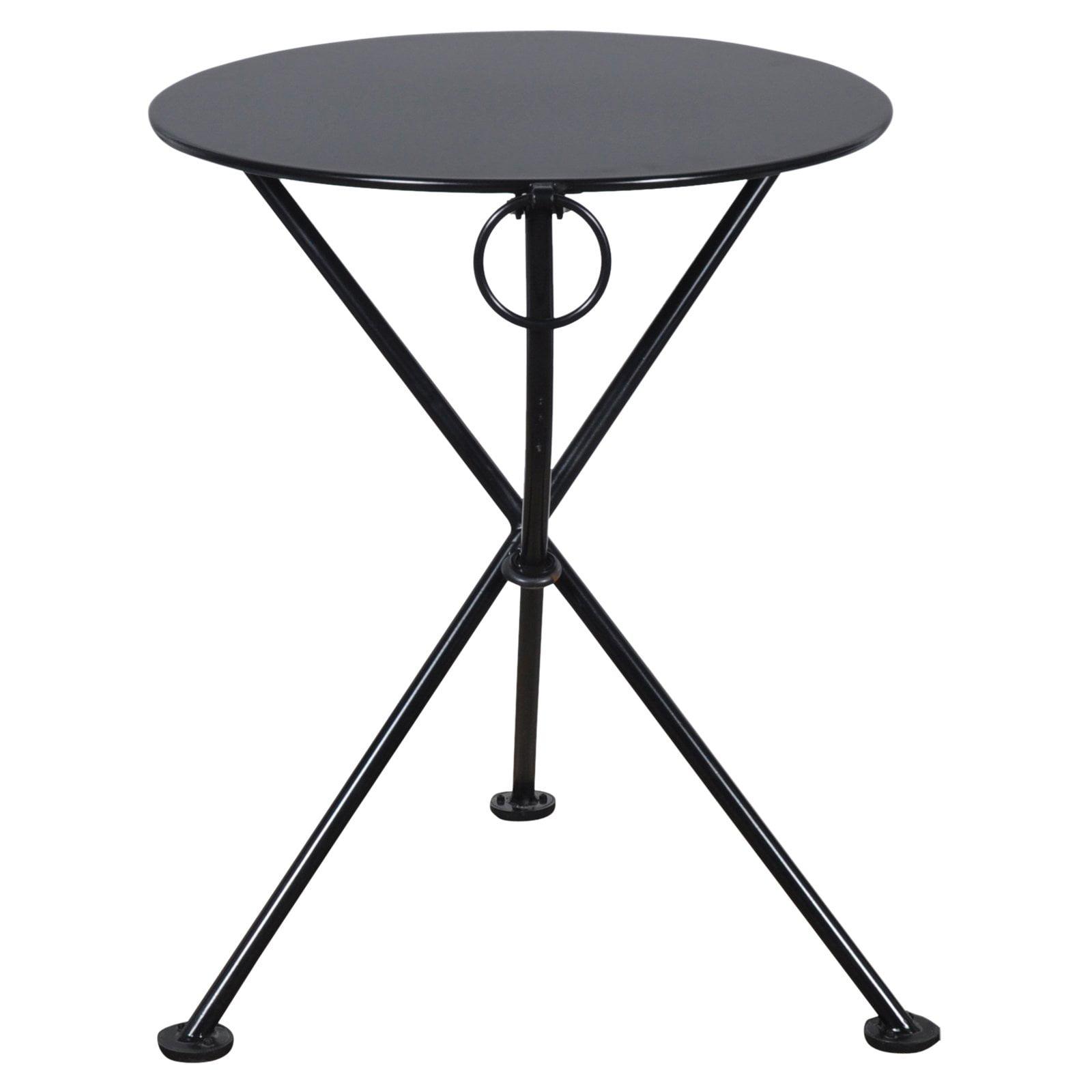 Furniture Designhouse French Veranda European Cafe 24 in. Round Folding Patio Bistro Table