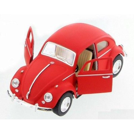 "5"" Kinsmart 1967 VW Volkswagen Beetle Matte Diecast Model Toy 1:32 Red"