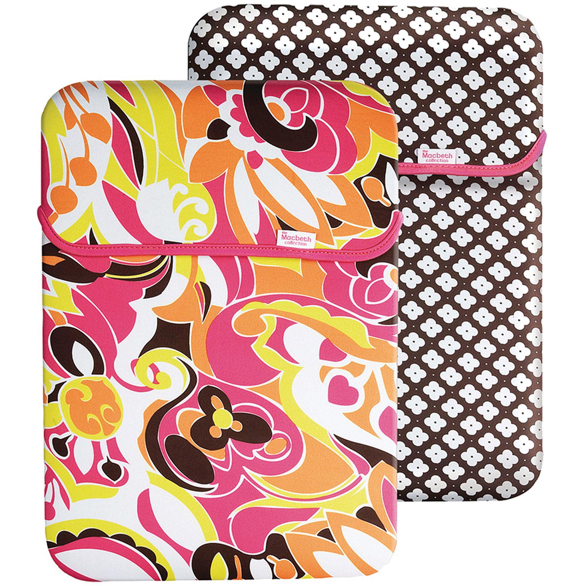 "Merkury 15.6"" Reversible Laptop Case, Paradise Orchid/Black Zebra"