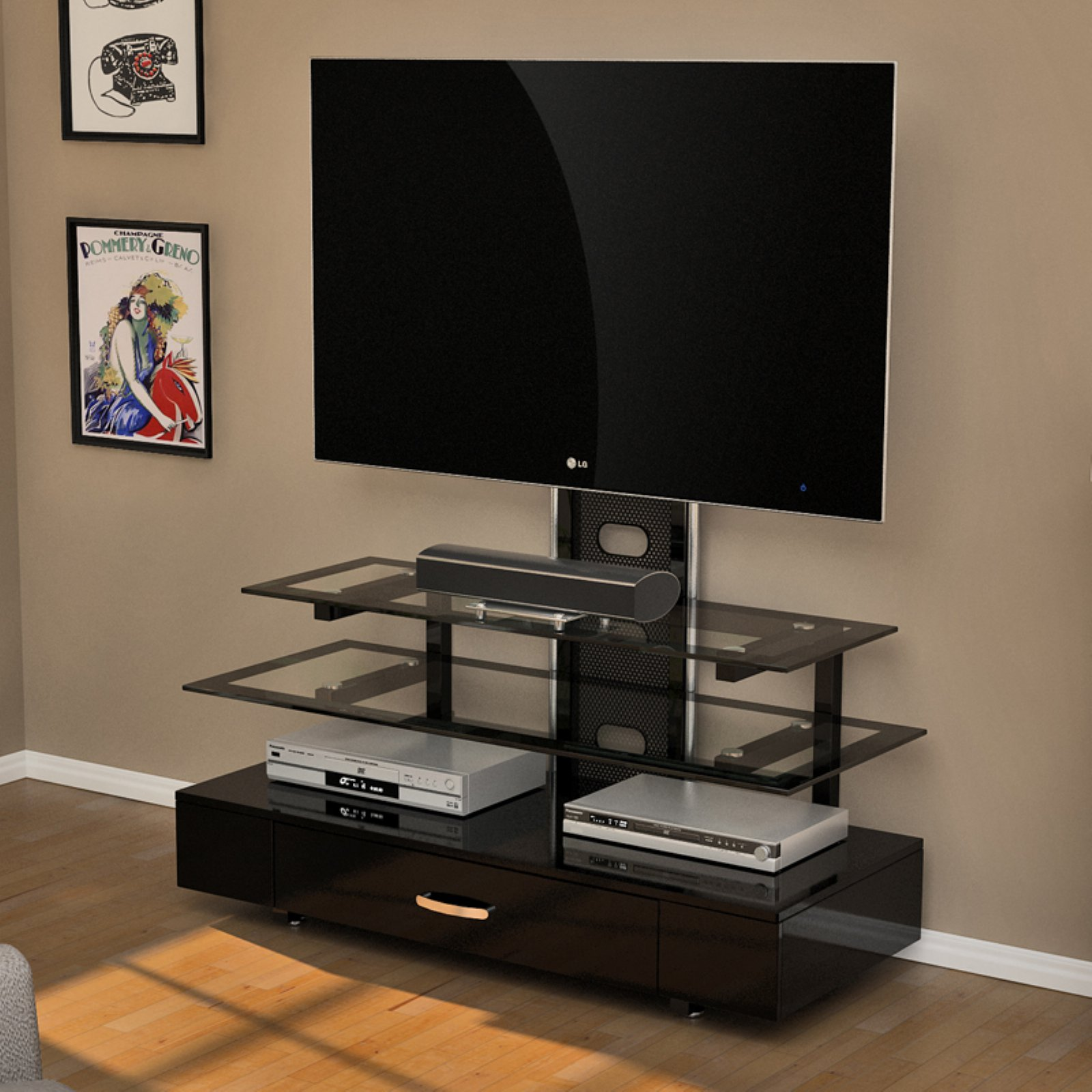 Z Line Designs Draper 3 In 1 Tv Stand With Mount For Tvs Up To 60