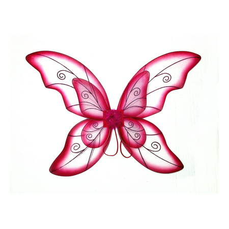 Easy Halloween Costume Ideas Women (Mozlly Mozlly Double Layer Fuchsia Fairy Wings For Adults w/ Garterized Strap 23