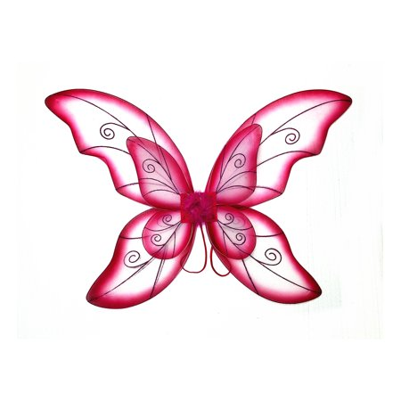 Mozlly Mozlly Double Layer Fuchsia Fairy Wings For Adults w/ Garterized Strap 23
