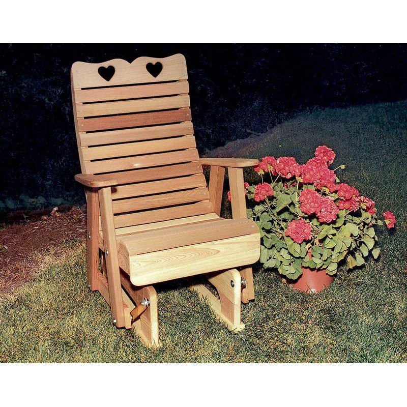 Creekvine Designs Country Hearts Royal Cedar Glider Chair