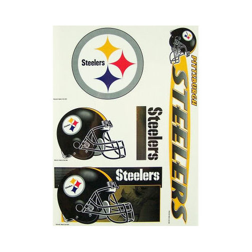 Pittsburgh Steelers Official NFL 11 inch x 17 inch  Car Window Cling Decal by Wincraft