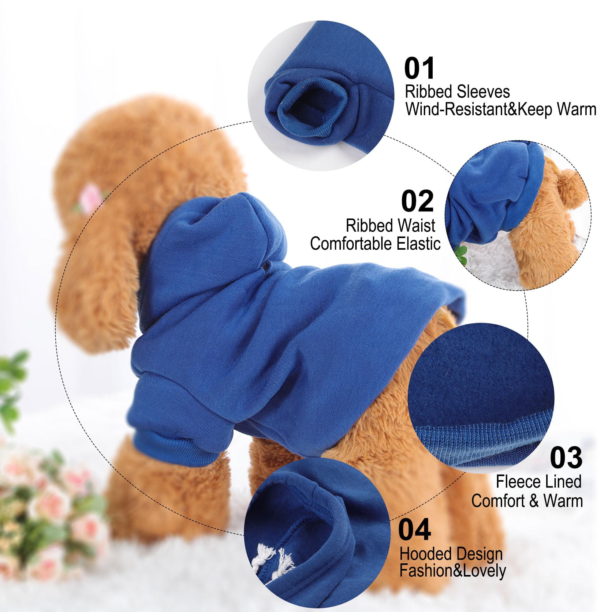 Cotton Dog Winter/Spring/Fall Sweatshirt Hoody Pet Clothes Warm Coat Blue M - image 6 of 7
