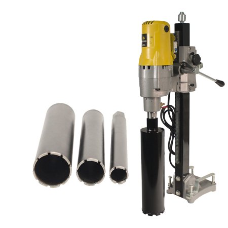 Handheld Dry Core Drill - Steel Dragon Tools® 185 8in. Concrete Hole Boring Rig Wet & Dry Core Drill with 2in. 3in. 4in. Wet Laser Welded Diamond Concrete Bits
