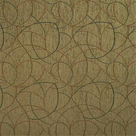 Designer Fabrics F870 Tissu d'ameublement chenille g-om-trique, vert, bleu et orange, 54 po - image 1 de 1