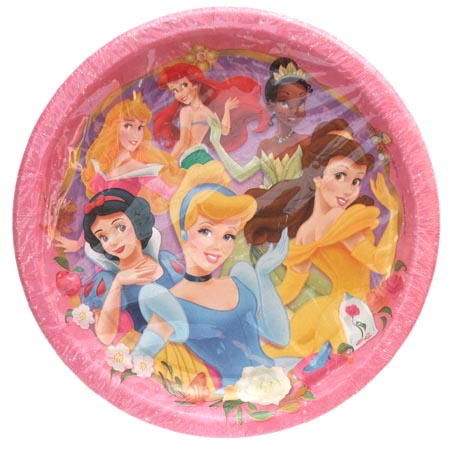 "Disney Princess Birthday Party Paper Plates 9"" - 24CT"
