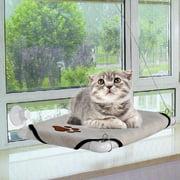 Cat Window Perch Seat ,Cat Window Mounted Bed Pet Beige  WCYE