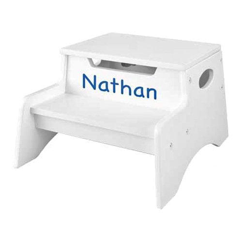 Kidkraft Personalized White Step N Store Step Stool