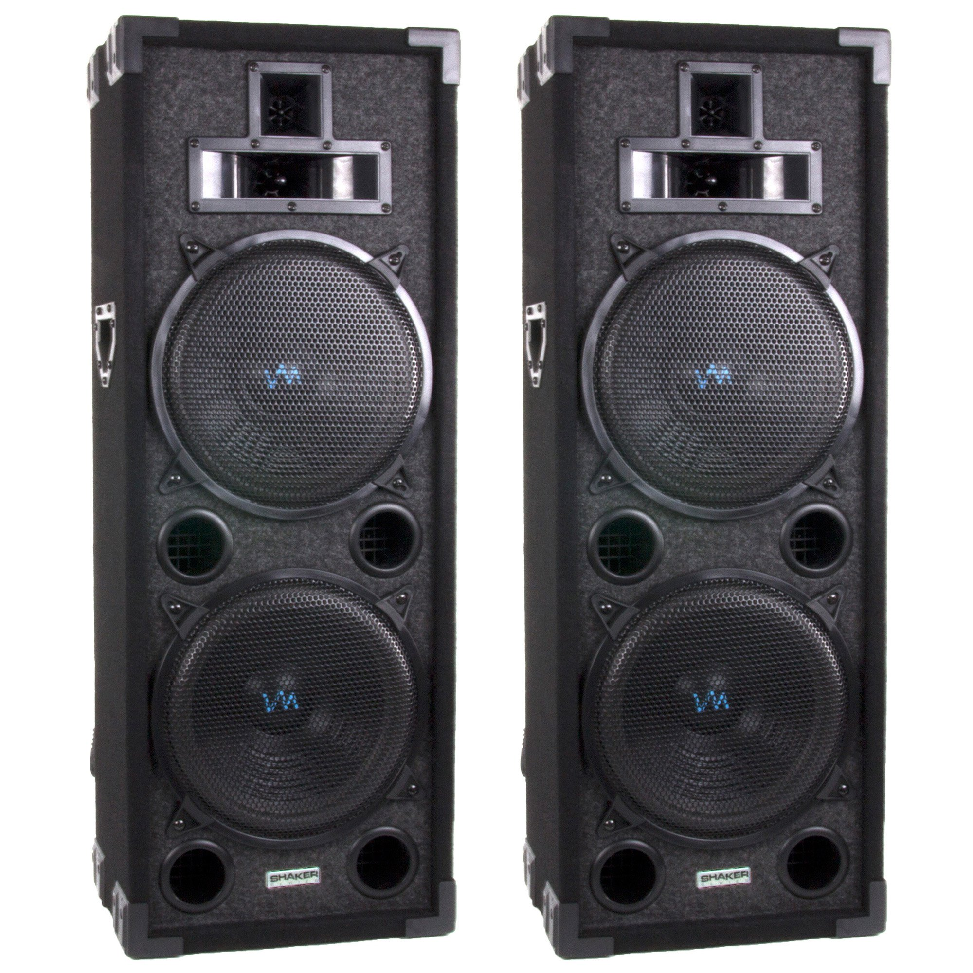 VM Audio 800 Watt 4 Way 8 Inch DJ Passive Loud Speaker System (Pair) | VAS428P