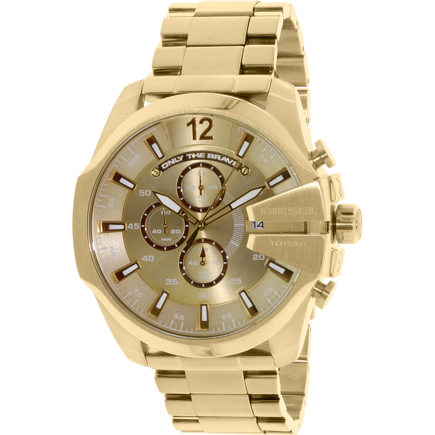 Diesel Men's DZ4360 Gold Stainless-Steel Quartz Fashion Watch