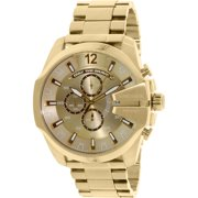 Diesel Men's Mega Chief Chronograph Gold Stainless-Steel Quartz Fashion Watch DZ4360