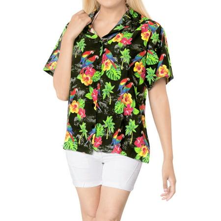 Hawaiian Shirt Ladies Beach Top Blouses Tank Casual Aloha Holiday Daily -