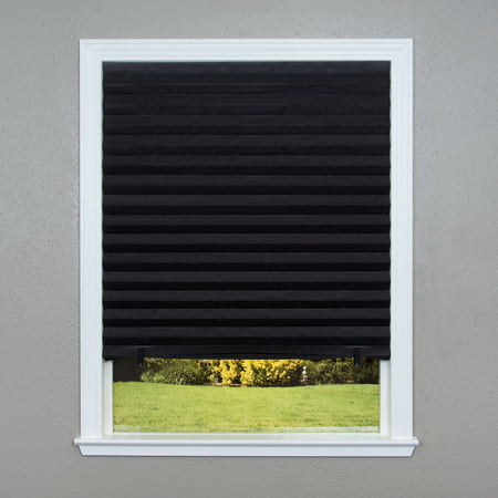 Hunter Douglas Pleated Shade - Original Blackout Pleated Paper Shade Black, 6 Pack