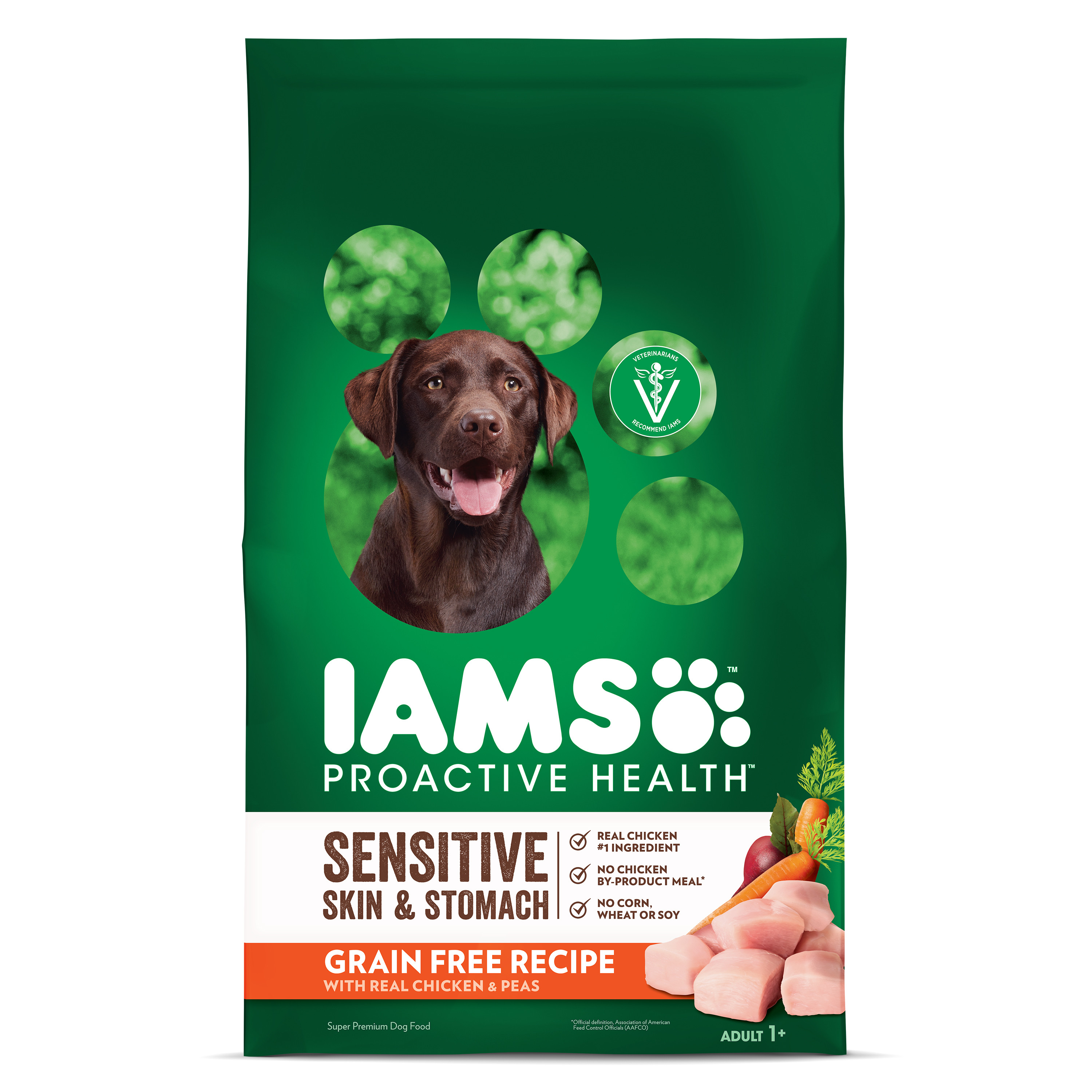 Iams Proactive Health Dry Dog Food, Sensitive Skin And Stomach Grain-Free With Real Chicken And Peas, 10.3 Lb
