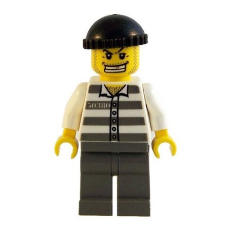 LEGO Minifigure - City - JAIL PRISONER (Gold Tooth)
