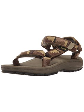 Teva Boys' Hurricane 2 Sandal, Peaks Brown/Olive, 4 M US Toddler