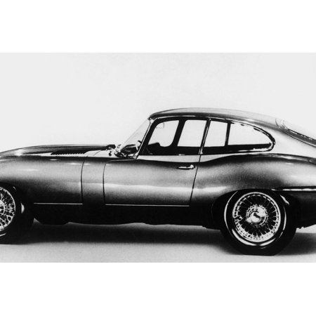 New Jaguar Car Will Be Presented for the First Time in Geneva Car Fair March 16, 1961 Print Wall