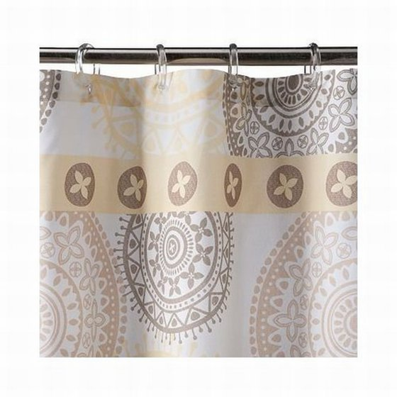 Sonoma Olympia Medallion Brown Gold Beige Fabric Shower Curtain Bath