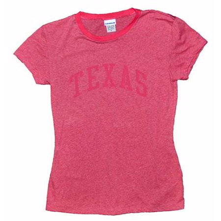 Texas Longhorns T-shirt - Ladies Ringer By League - Dark Pink