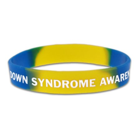 PinMart's Down Syndrome Awareness Youth Childrens Size Rubber Silicone Bracelet (Childrens Size 28)
