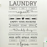 Belvedere Designs LLC Laundry Is Love Quote Wall Decal (Set of 101)