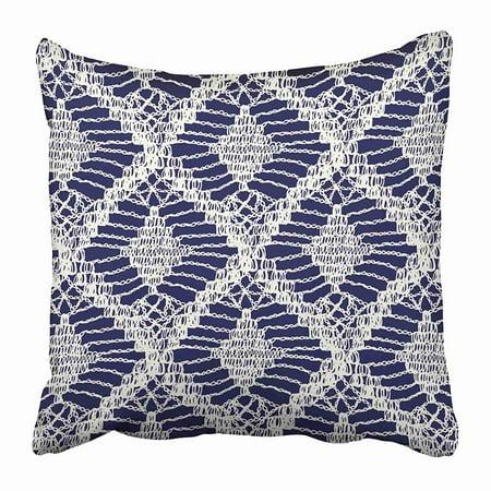 BOSDECO Crochet Knitted Woven Macrame in Boho Style Oriental Pattern Bohemian Knitting Pillowcase Pillow Cover 20x20 inch - image 1 de 1