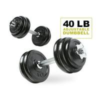 Deals on PRCTZ 40LB Adjustable Dumbbell Set