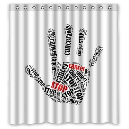 XDDJA Abstract Funny Quotes Hand Art Shower Curtain Waterproof Polyester Fabric Shower Curtain Size 66x72 inches - image 1 de 1