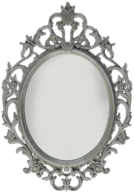 Kole Ornate Grey Oval Mirror by Kole