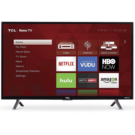 TCL 32-inch Roku Smart LED HDTV with 720p Resolution & 60Hz Refresh Rate -