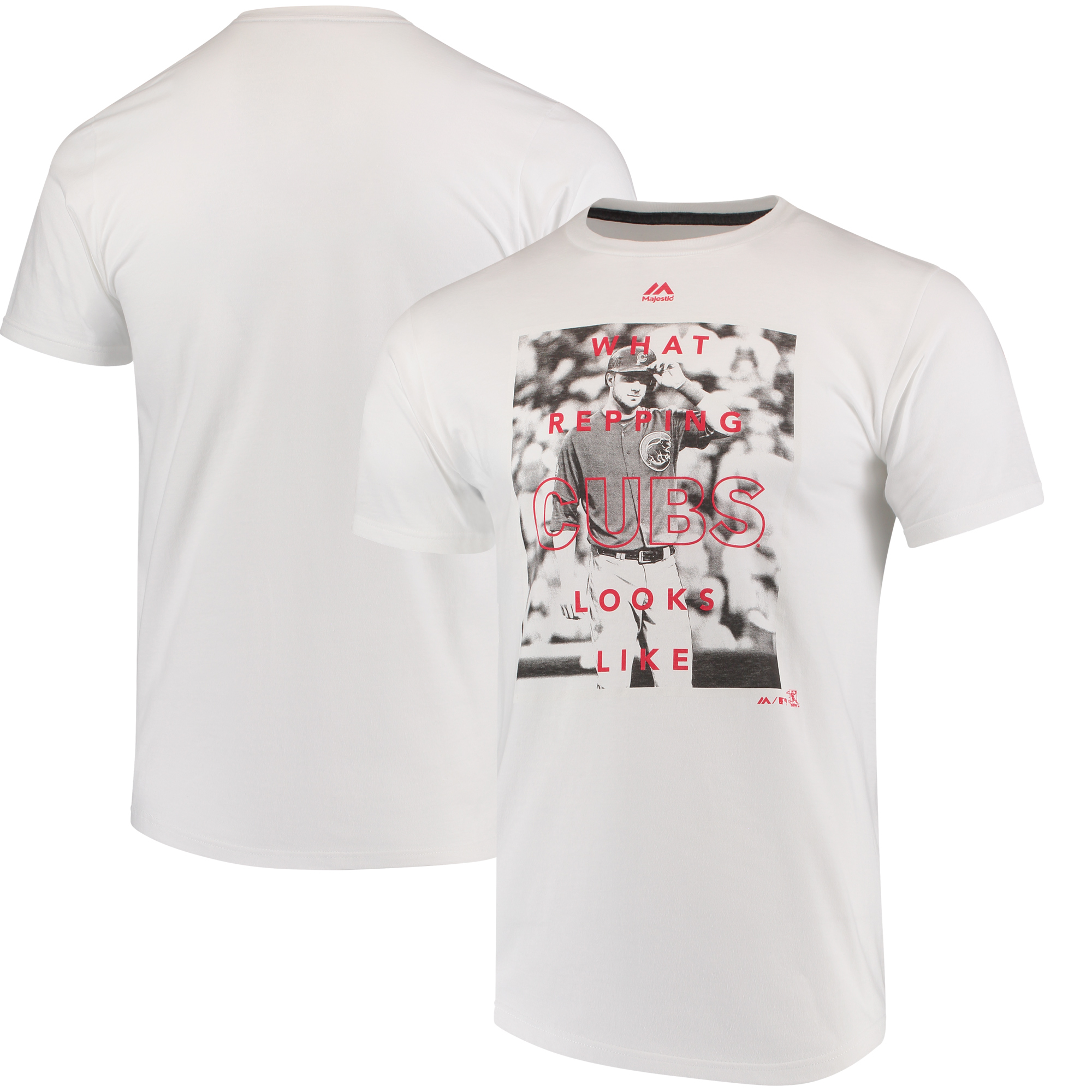 Kris Bryant Chicago Cubs Majestic Walk Off Player T-Shirt - White